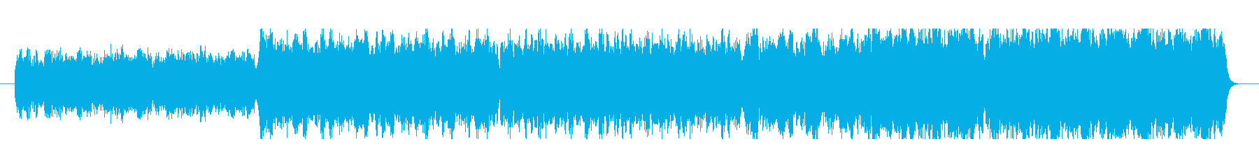 明るい綺麗な音色のメロディーの再生済みの波形