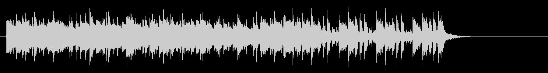 軽快なポップフュージョン(サビ~エンド)の未再生の波形