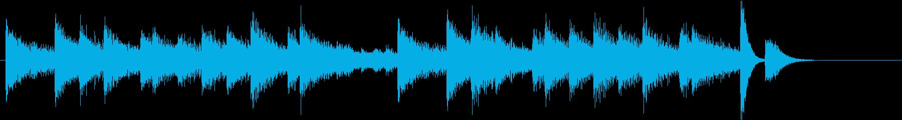お正月・一月一日モチーフピアノジングルBの再生済みの波形