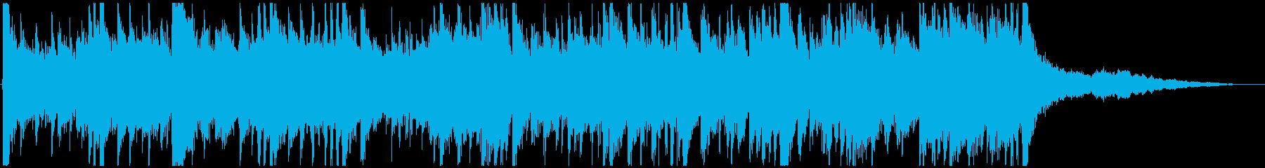 プロギタリストの巧みなアドリブの再生済みの波形