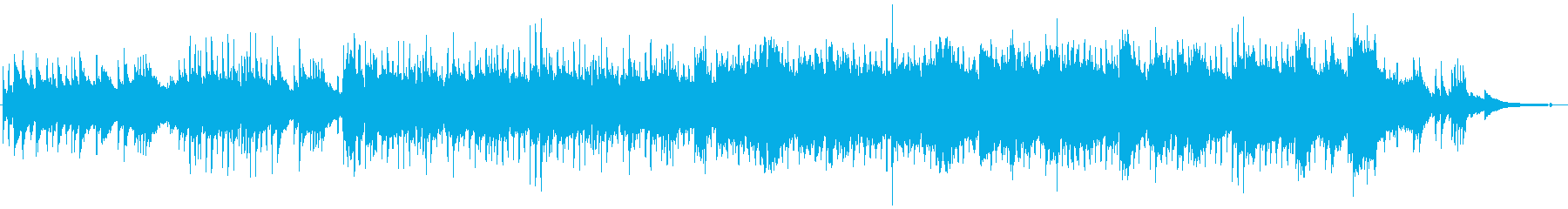 和風BGMの琴や尺八が奏でるメロディの再生済みの波形