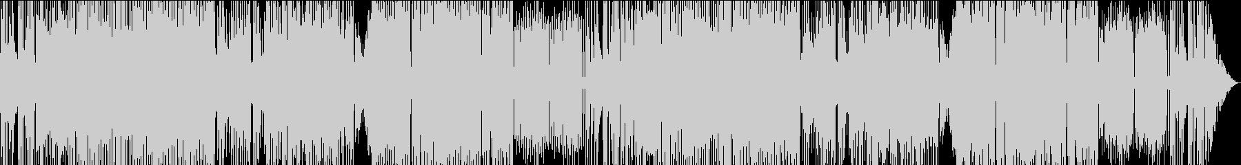 激しく華麗な速弾き三味線の和風戦闘曲の未再生の波形