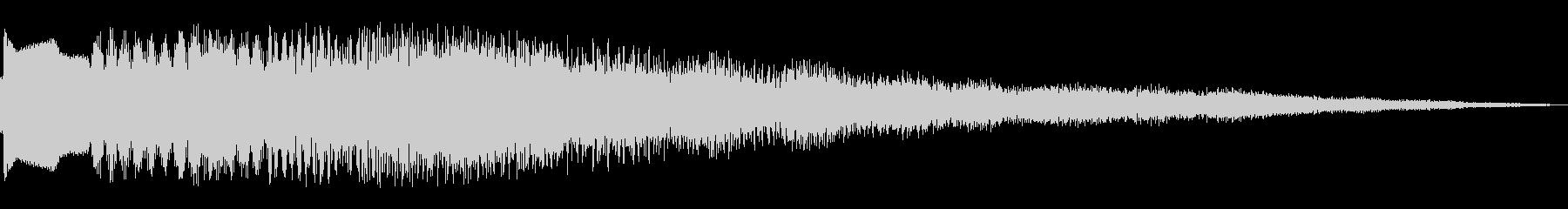コインやアイテムをゲットした時の音の未再生の波形