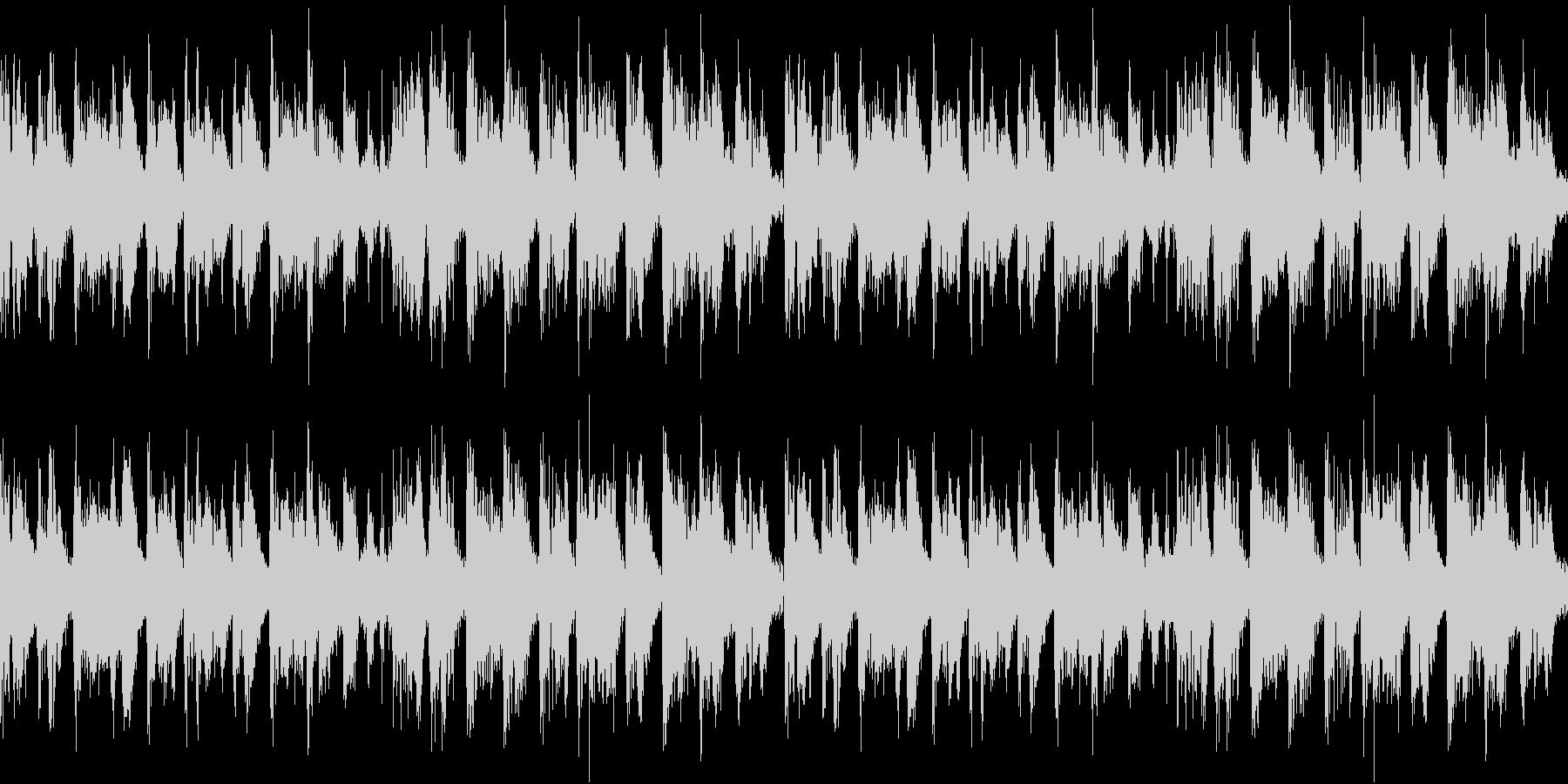 エレクトリックピアノが印象的なテクノの未再生の波形