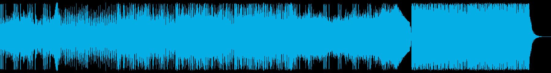 ハウス/落ち着いたクールな雰囲気の曲の再生済みの波形