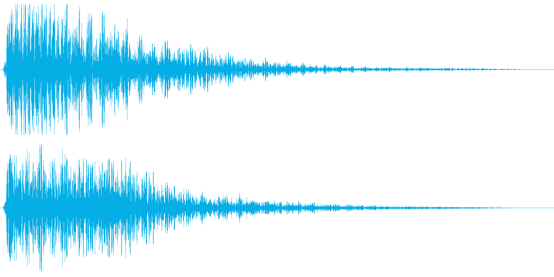 ゴ〜ン(大きなものが迫ってくる効果音)の再生済みの波形