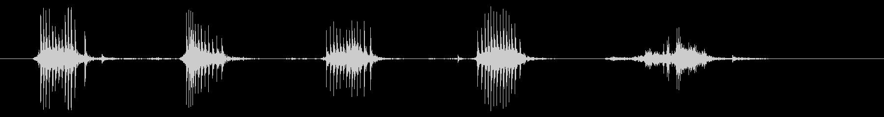 タイプライター02-09(紙 取り出す)の未再生の波形