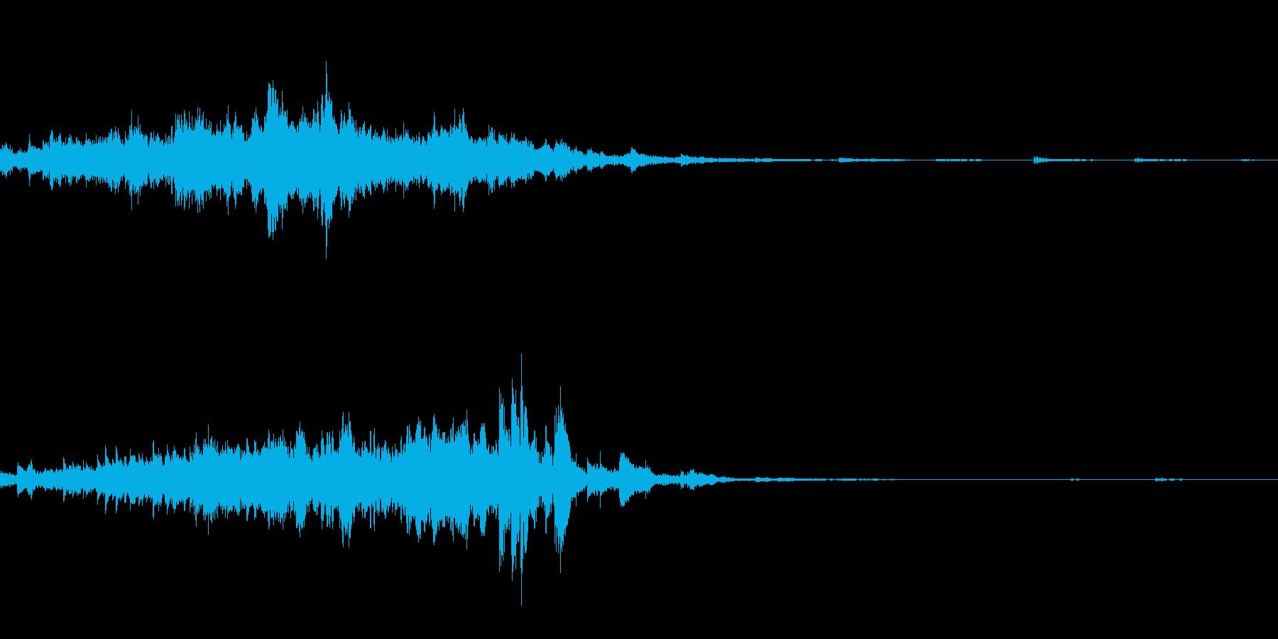 キラキラ(瞬き音)の再生済みの波形