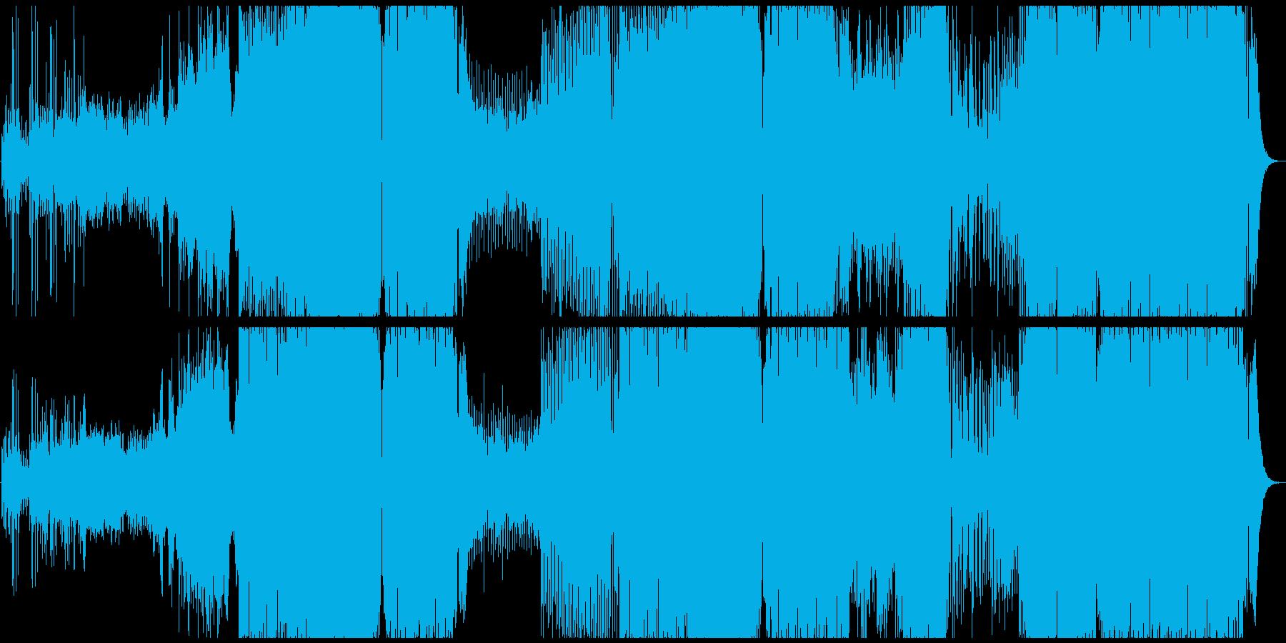 壮大感のあるトロピカルハウスの再生済みの波形