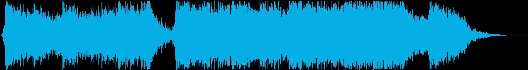 アクションハイブリッドトレイラー30秒の再生済みの波形