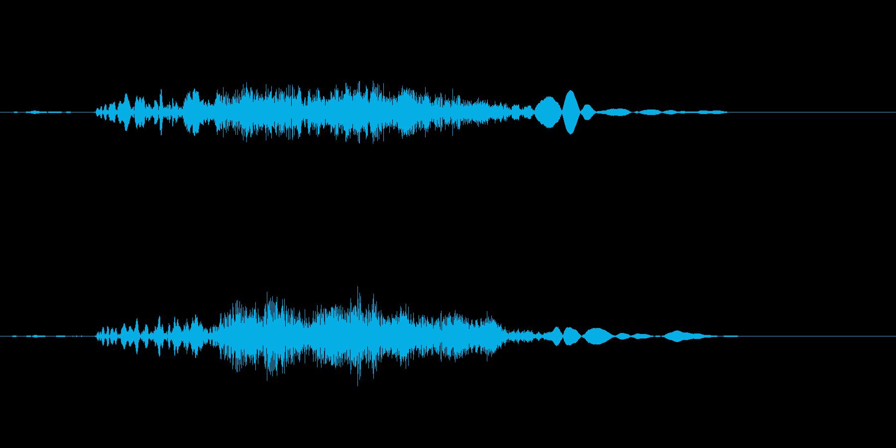 引き戸を開ける音ですの再生済みの波形