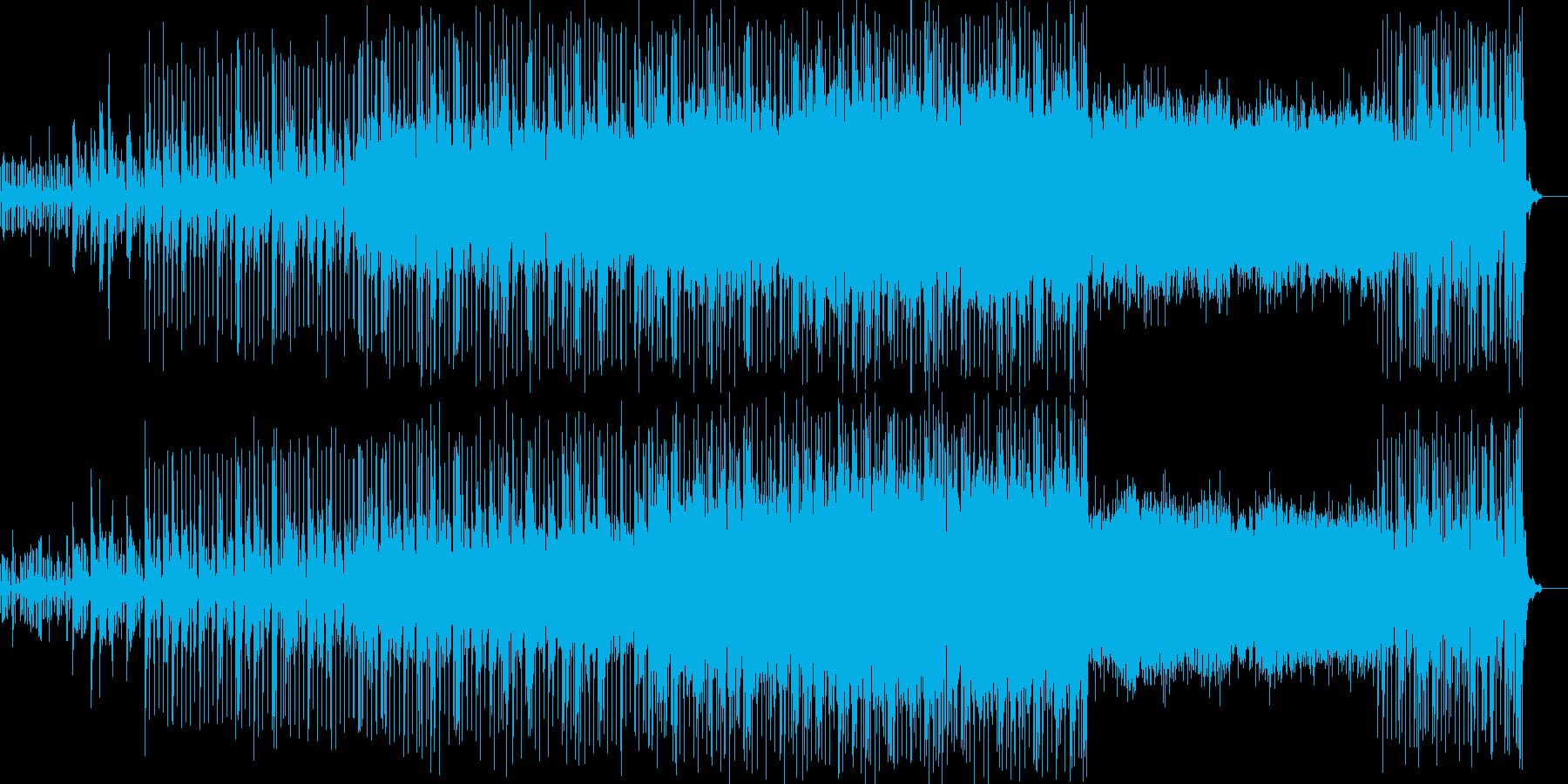リズミカルなアンビエントテクノの再生済みの波形