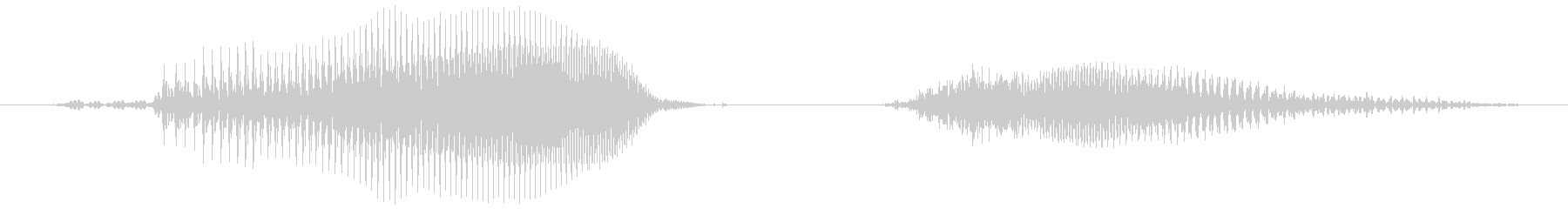 リーチの未再生の波形