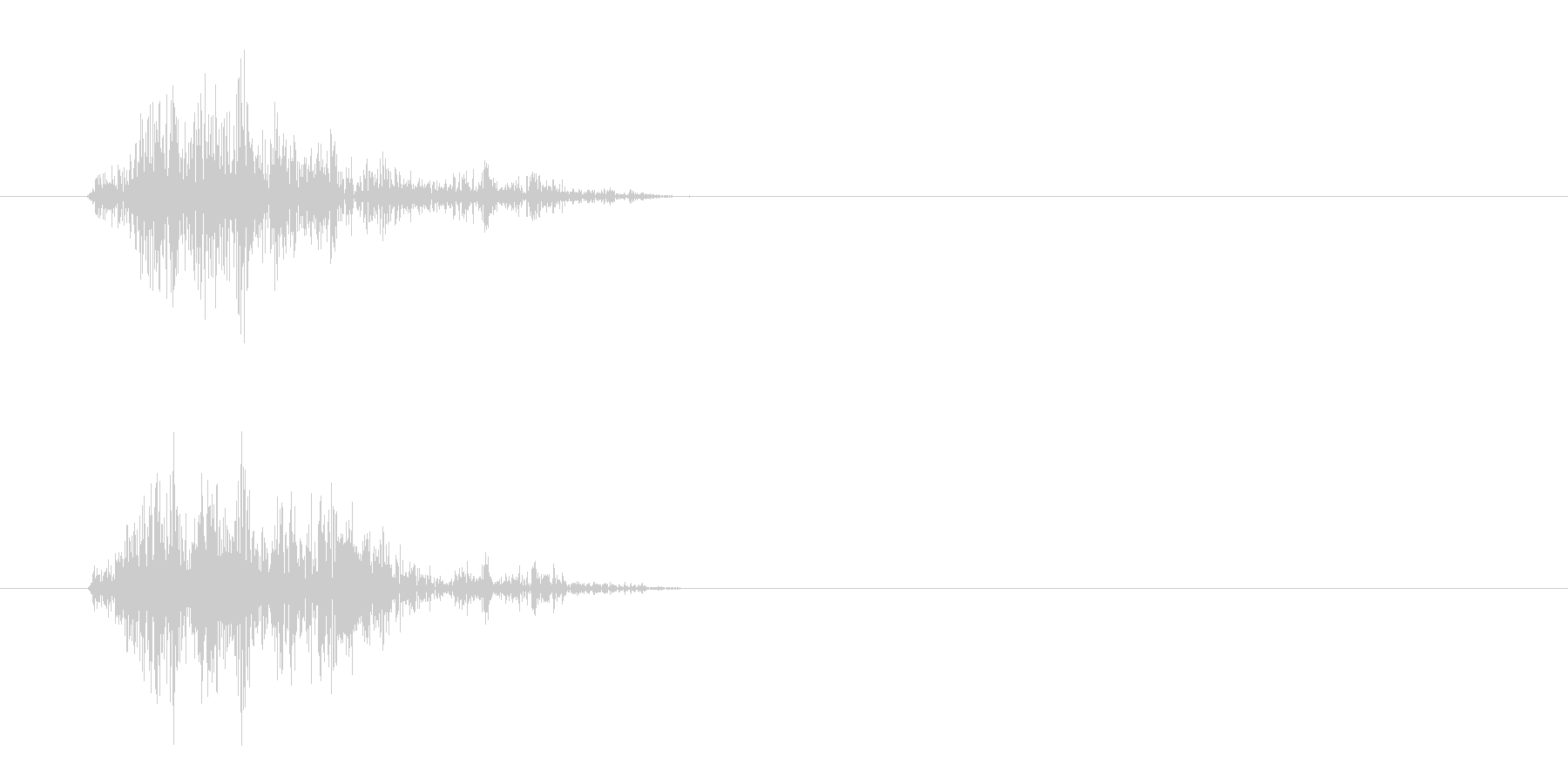 カサッ(摩擦音)シンプルの未再生の波形