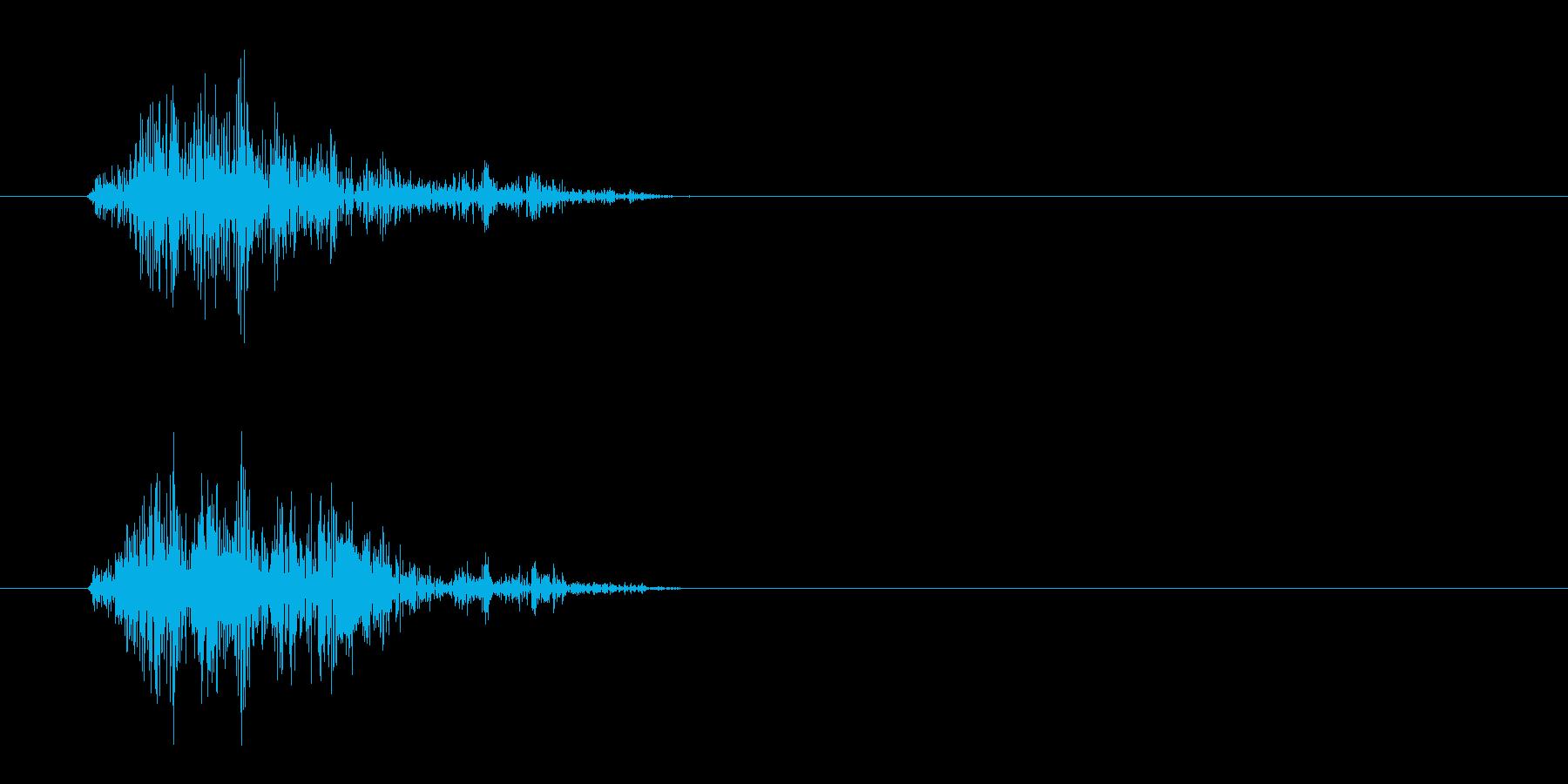 カサッ(摩擦音)シンプルの再生済みの波形