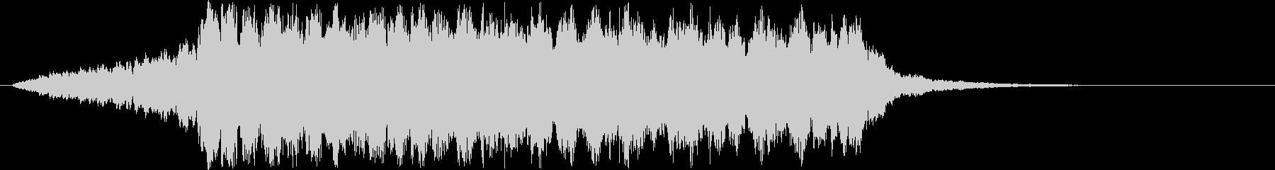 浮遊感ある綺麗なお知らせ音の未再生の波形