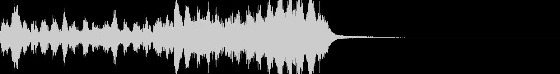 ハロウィン風オーケストラのジングルの未再生の波形