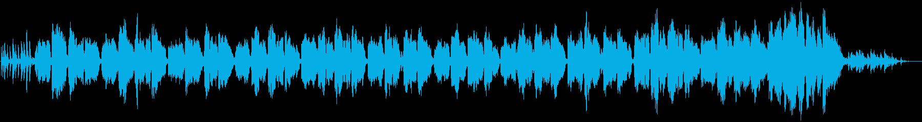 ピアノとベルの優しいクリスマスキャロルの再生済みの波形