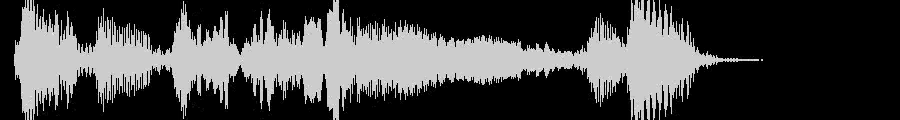 アコギ 生音 ブルースジングルの未再生の波形