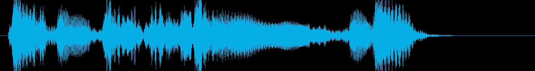 アコギ 生音 ブルースジングルの再生済みの波形