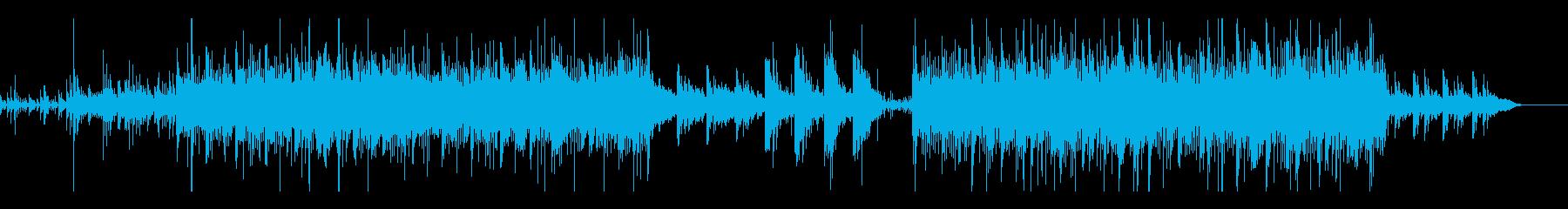 シリアスでビート感のあるピアノ曲の再生済みの波形
