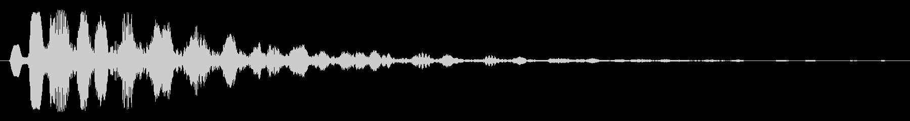 エコーの効いたタイトルアップ音の未再生の波形