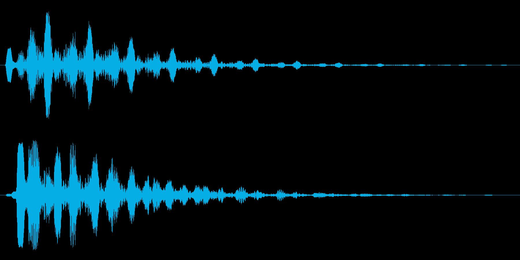 エコーの効いたタイトルアップ音の再生済みの波形