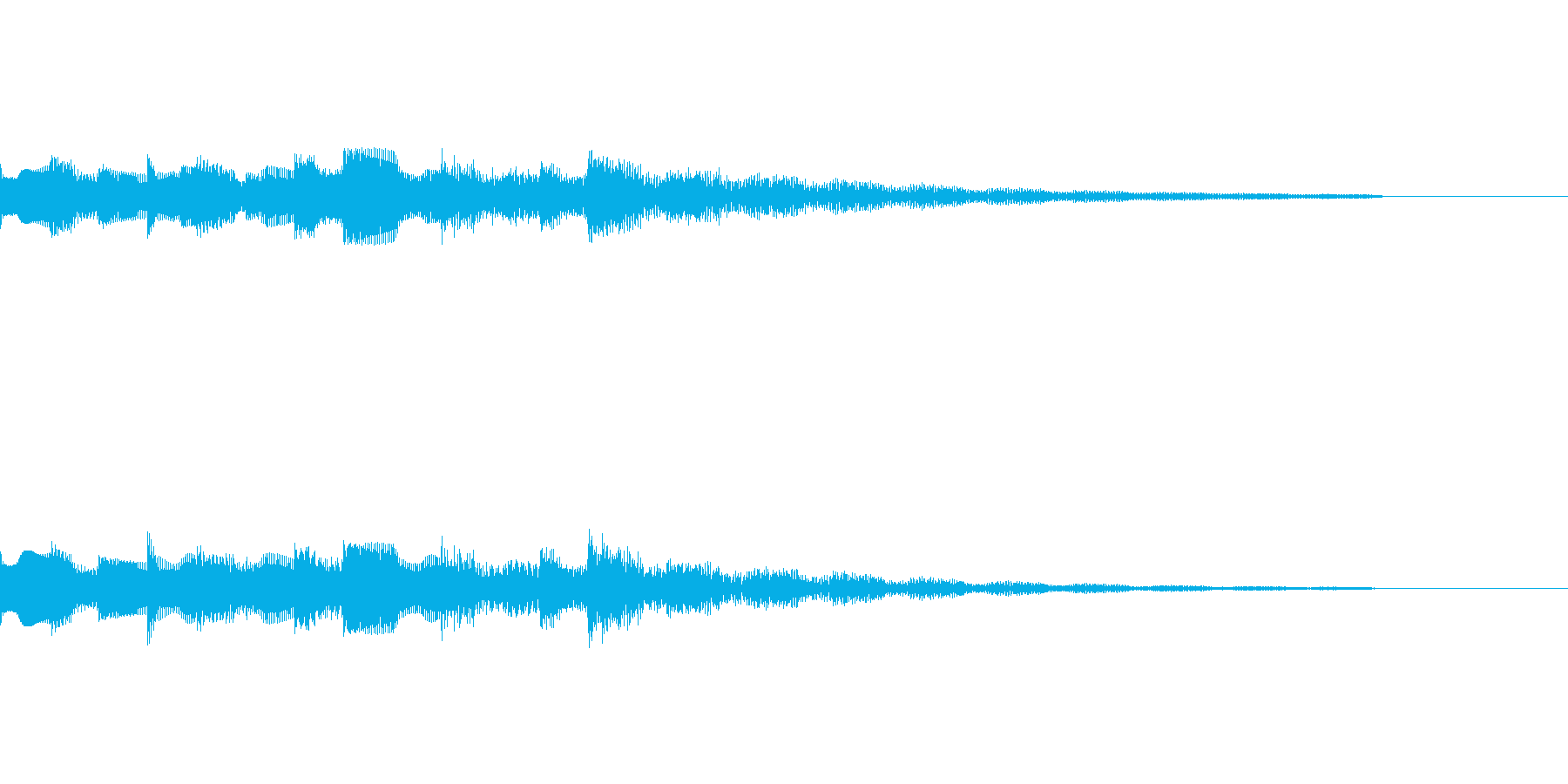 エレキピアノによるドロドロとしたジングルの再生済みの波形