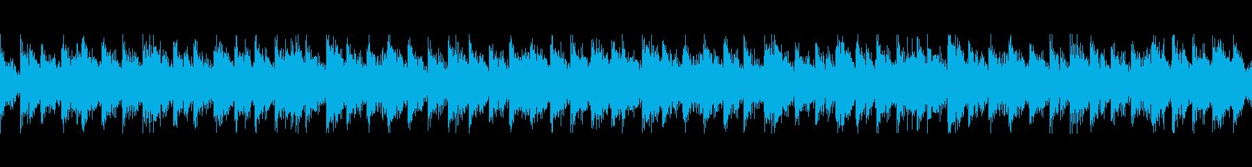 パーカッション民族楽器風・変拍子・ループの再生済みの波形