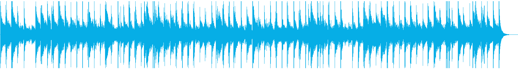 アコースティックなフォークバラードの再生済みの波形