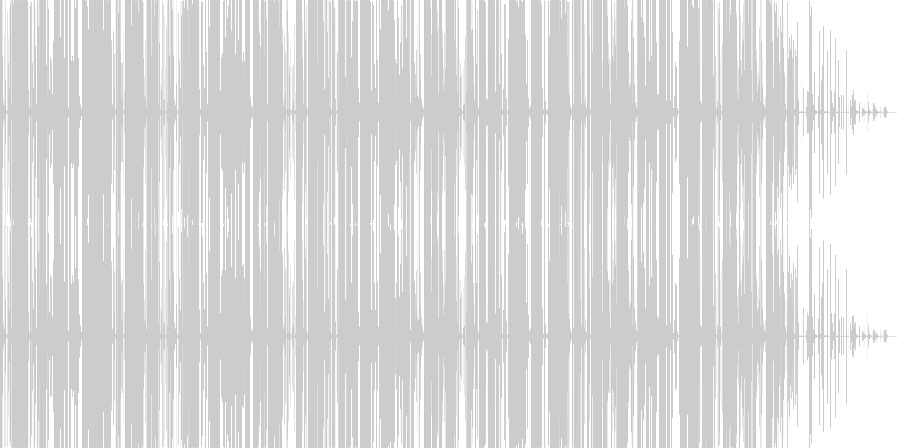 かっこいいマシンビートの未再生の波形