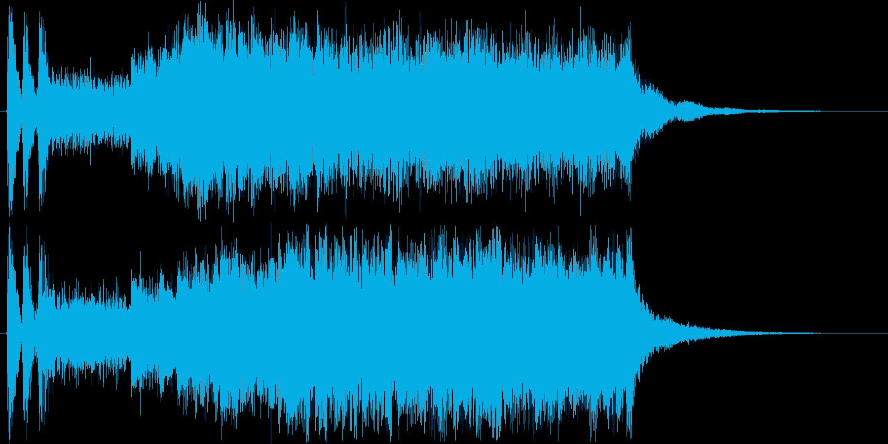 シリアスなシンセ・鉄琴など短めの再生済みの波形