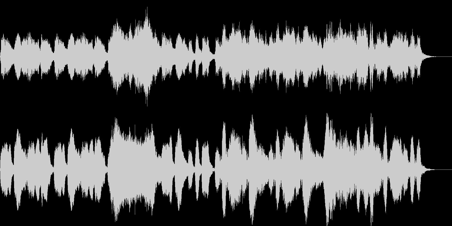 のんびりする優しい木管三重奏の未再生の波形