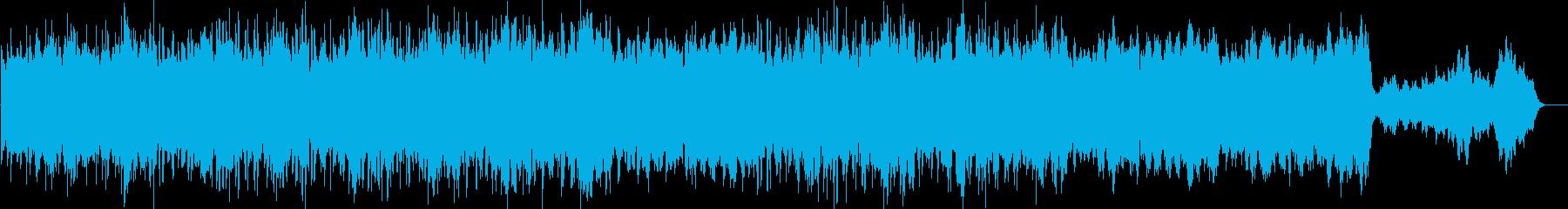 華やかさのある幻想的なメロディーの再生済みの波形
