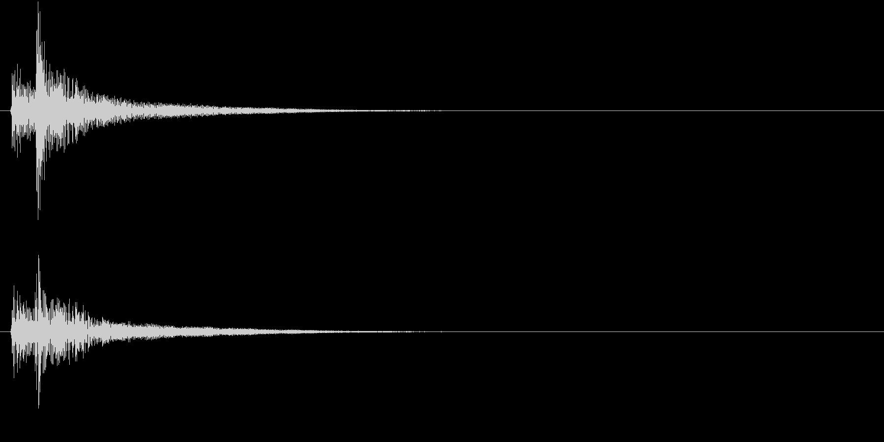 【生録音】お茶碗に箸が当たる音 単発 1の未再生の波形