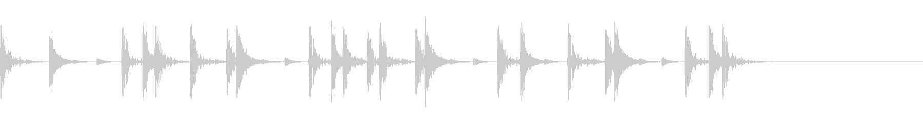 生ドラム_4小節リズムサンプリングの未再生の波形