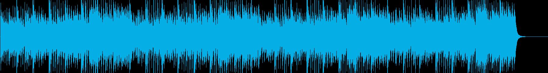 ホラー系、オーケストラ調のBGM の再生済みの波形