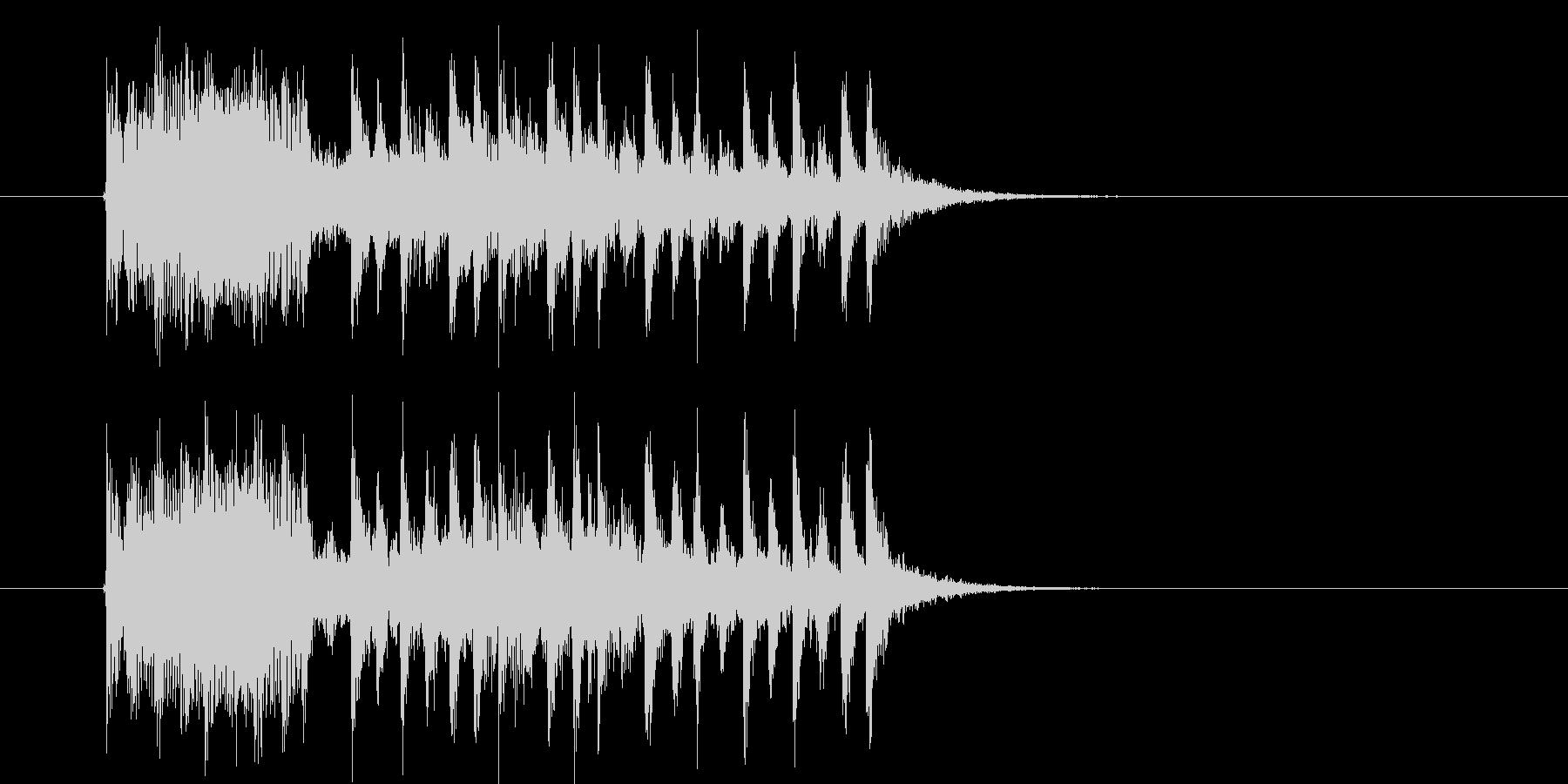 疾走感のあるミステリアスなミュージックの未再生の波形
