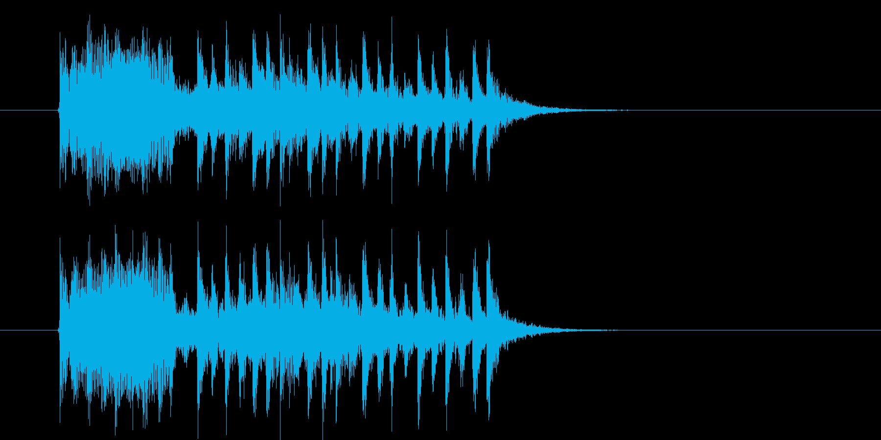 疾走感のあるミステリアスなミュージックの再生済みの波形