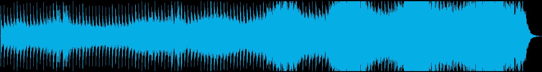 何かがゆっくりと迫ってくるようなホラー曲の再生済みの波形