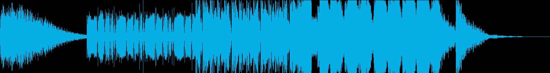 緊迫感のあるトレーラー向けBGMの再生済みの波形