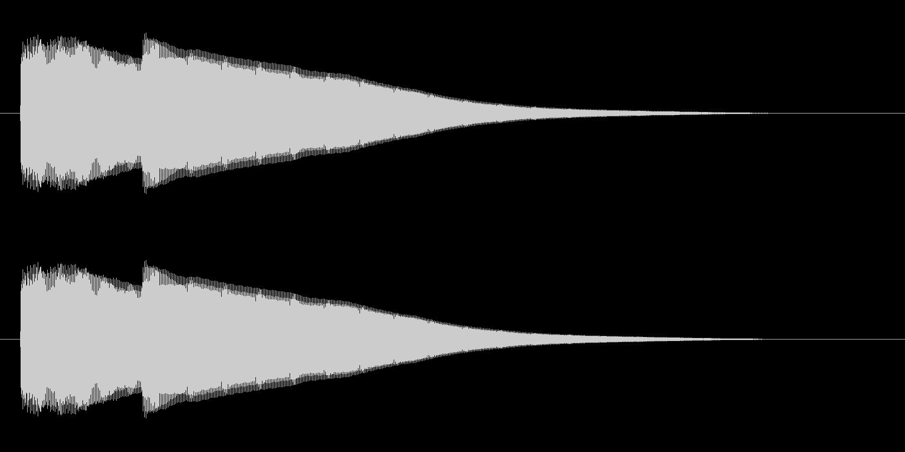 ピポン(チャイムを鳴らす効果音)の未再生の波形