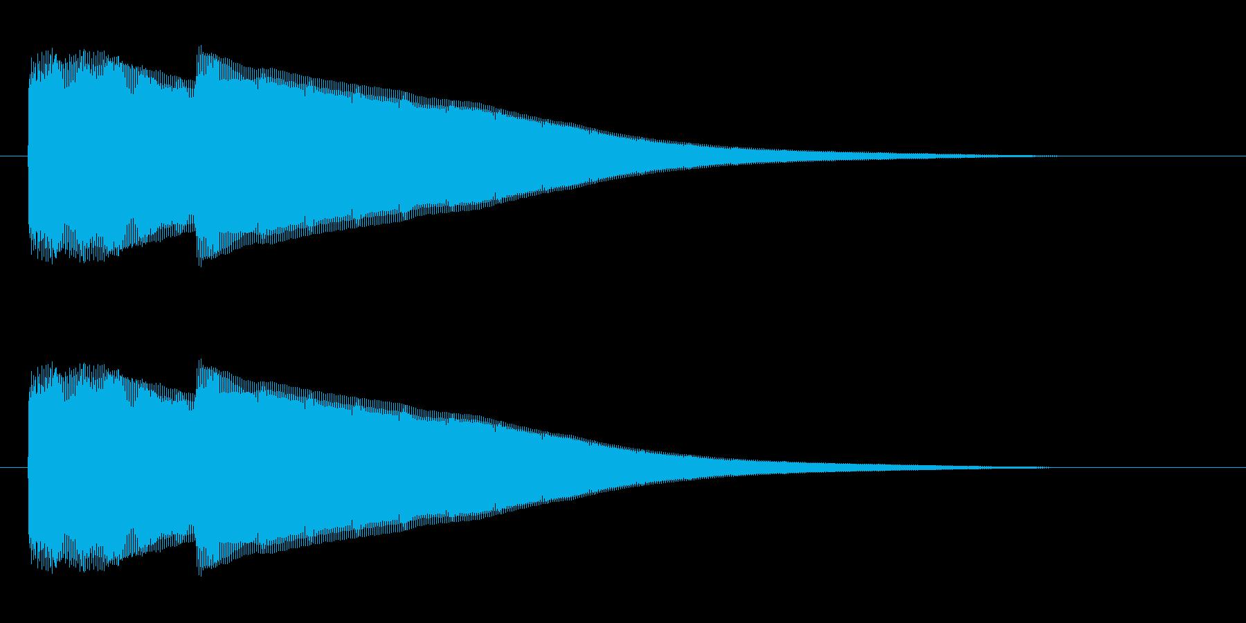 ピポン(チャイムを鳴らす効果音)の再生済みの波形