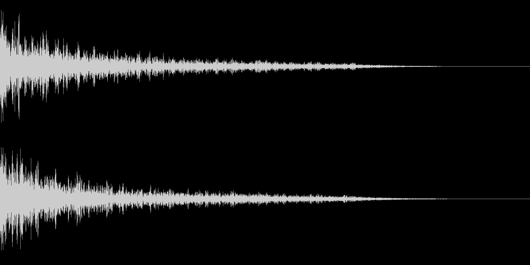 インパクト音 ドーン 余韻長めの未再生の波形