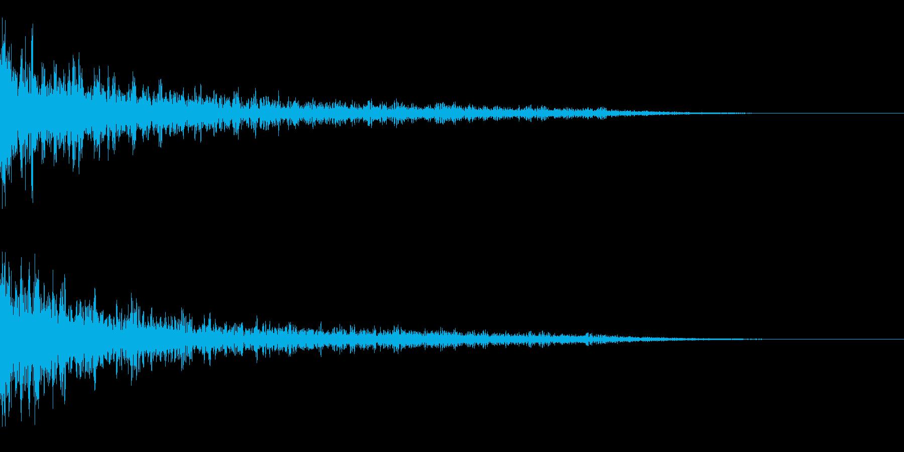 インパクト音 ドーン 余韻長めの再生済みの波形