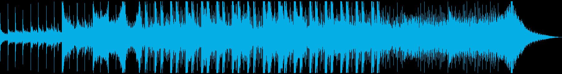 和風BGMの再生済みの波形