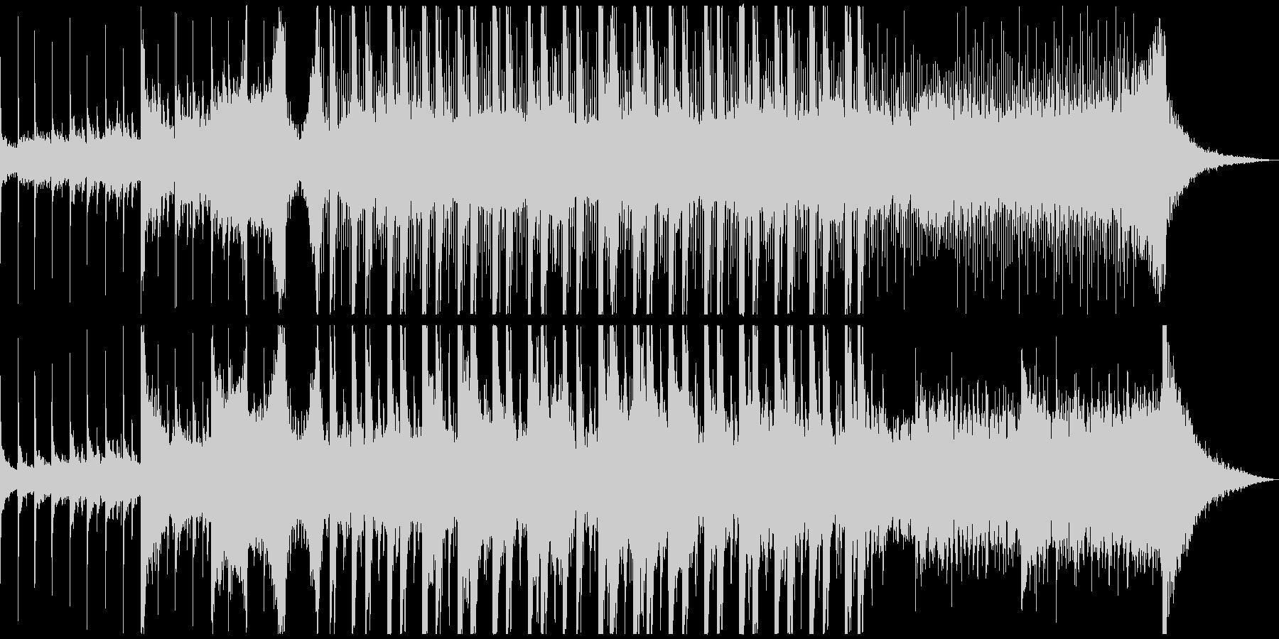 和風BGMの未再生の波形