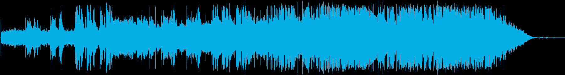 英語洋楽:ピンクフロイド・狂気 最終曲風の再生済みの波形