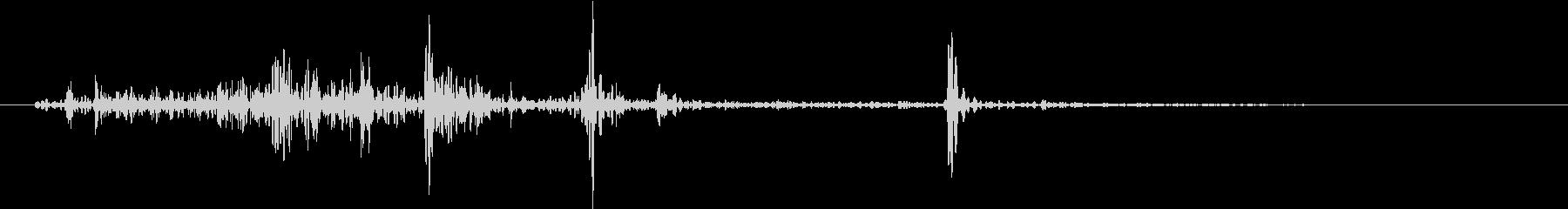 【生録音】ゴミを踏む音 1 紙屑の未再生の波形
