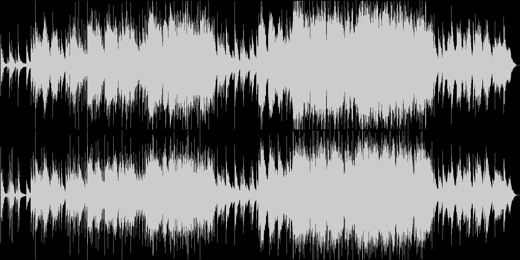 二胡と揚琴のしっとりした楽曲の未再生の波形